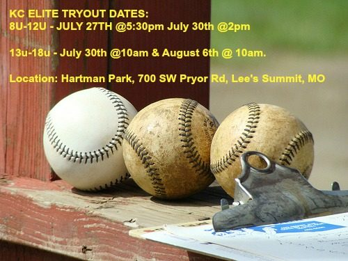 2016 TRYOUT DATES